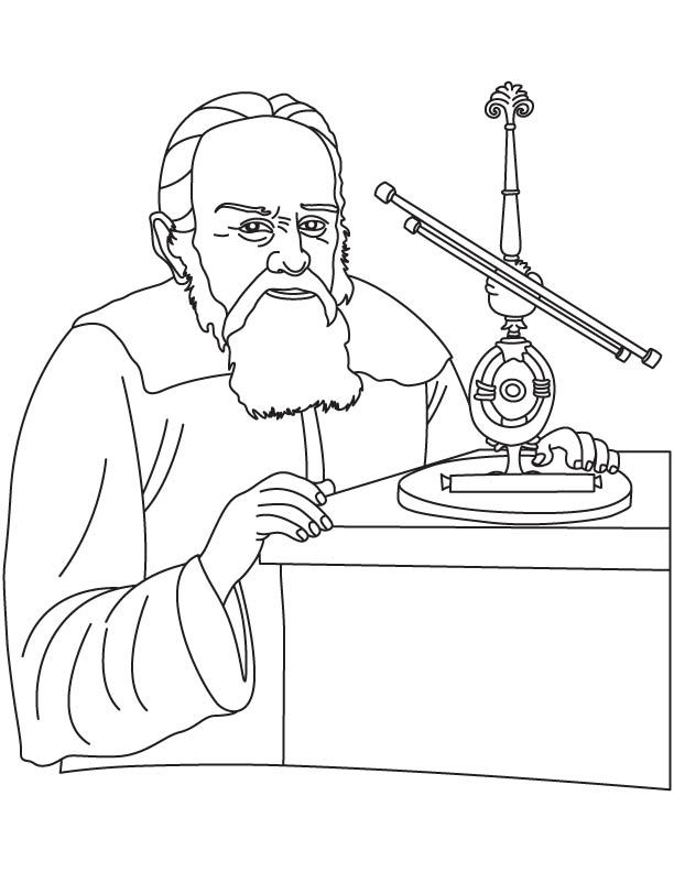 612x792 Galileo Galilei Coloring Pages Science Of The Stars Or Asters