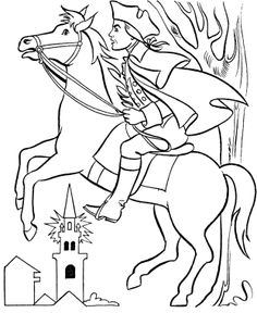 236x288 Revolutionary War The Ride Of Paul Revere Coloring Page School