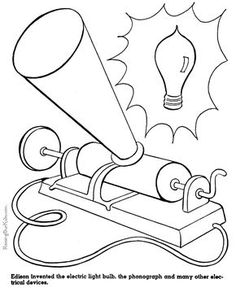 236x288 Thomas Edison Coloring Page Us History Coloring Pages Homeschool