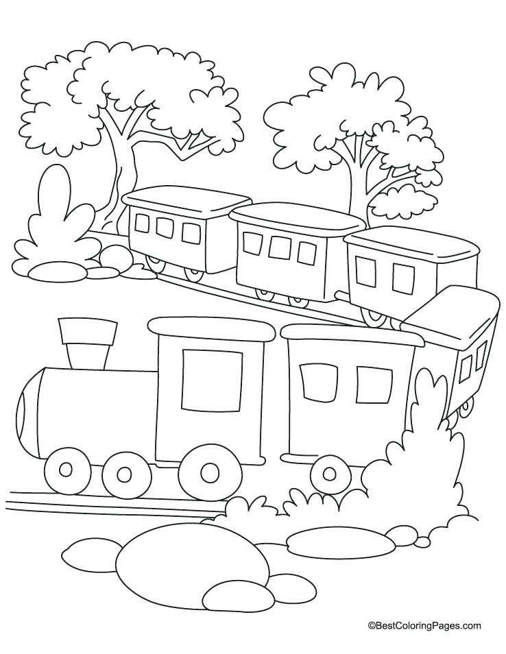 738x954 Train Color Pages Train Coloring Page Download Free Train