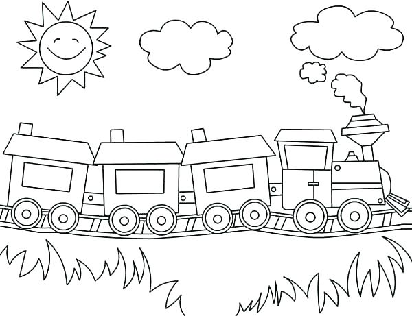 600x461 High Speed Train Coloring Pages
