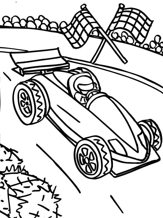 547x728 Drawn Race Car Formula