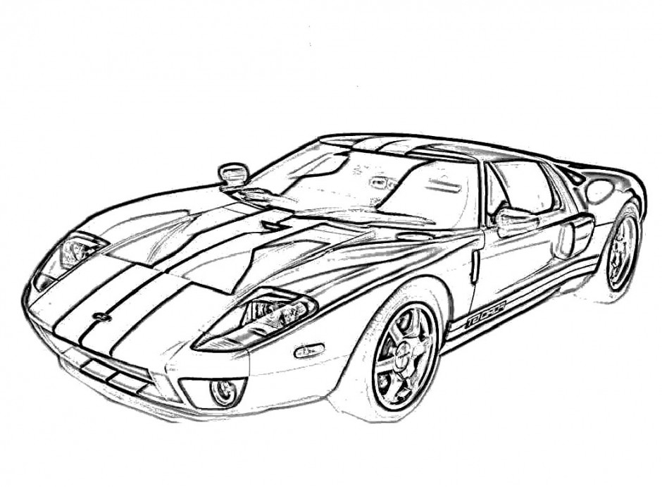 940x691 Ford Gt Coloring Pages Indy Car Coloring X