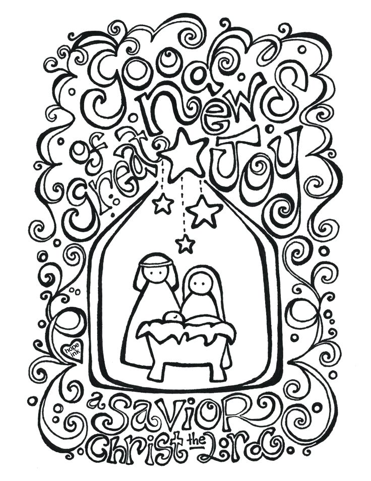 736x955 Nativity Scene Coloring Pages Good News Of Great Joy Nativity