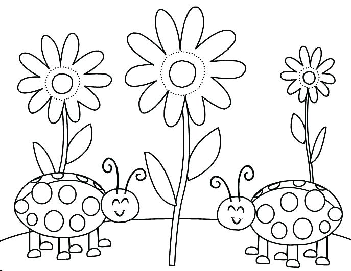 687x531 Love Bug Coloring Pages Love Bug Coloring Pages Bug Coloring Page