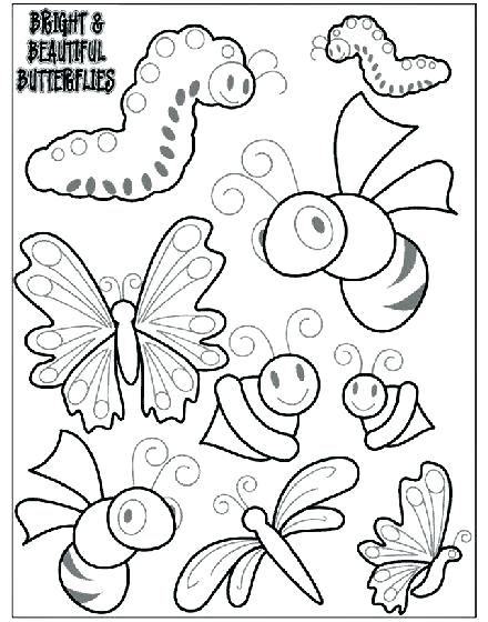 440x560 Insect Coloring Pages Butterfly And Insect Coloring Pages Insect