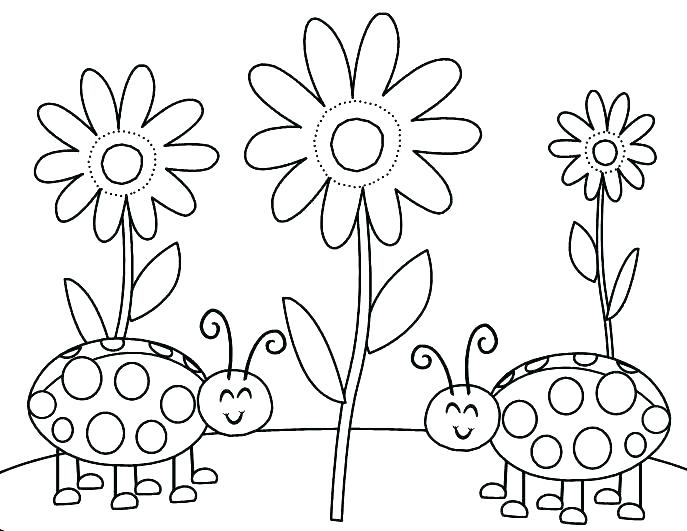 687x531 Coloring Bugs Bugs Coloring Page Ladybug Color Pages Free