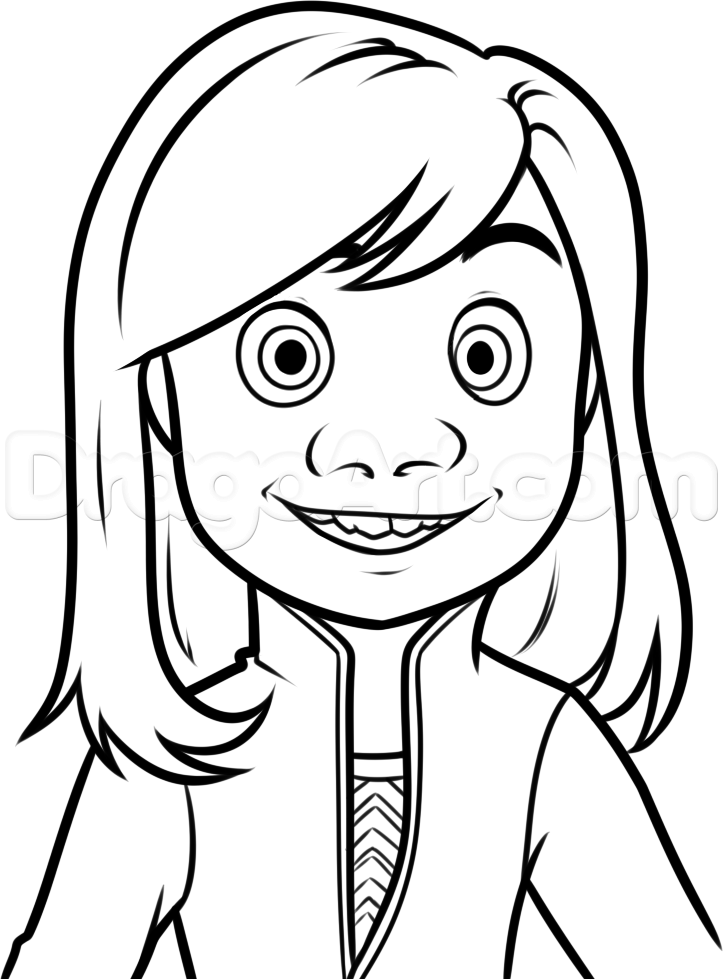 723x979 How To Draw Riley From Inside Out Step Coloring