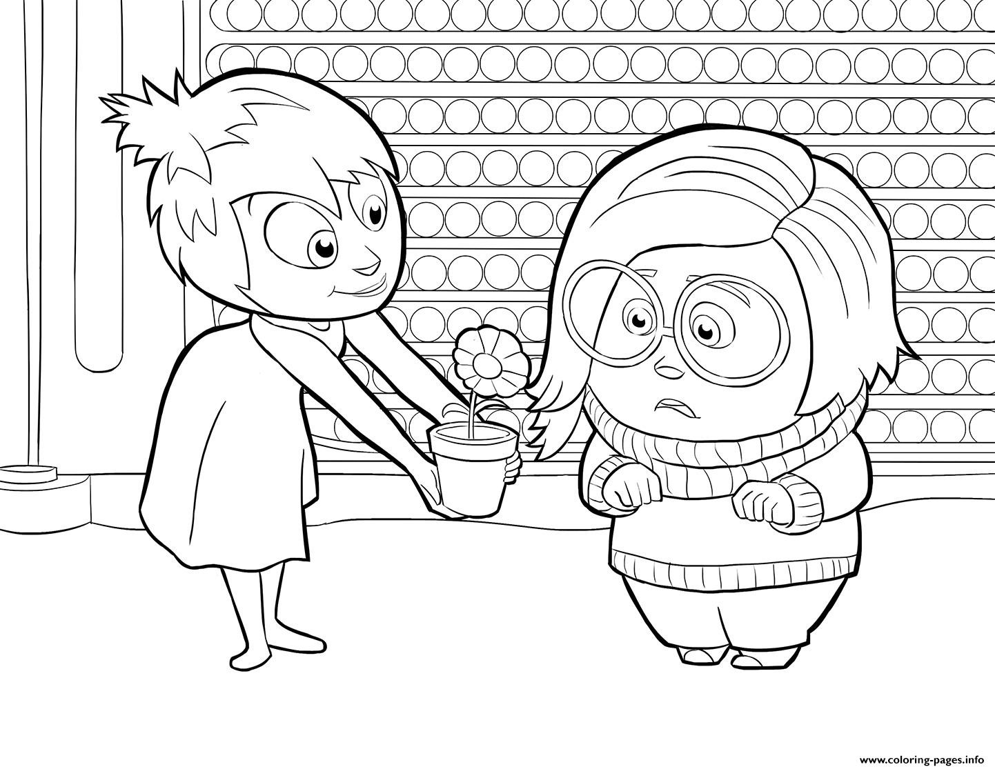 1442x1115 Disney S Inside Out Coloring Pages Sadness And Best Characters