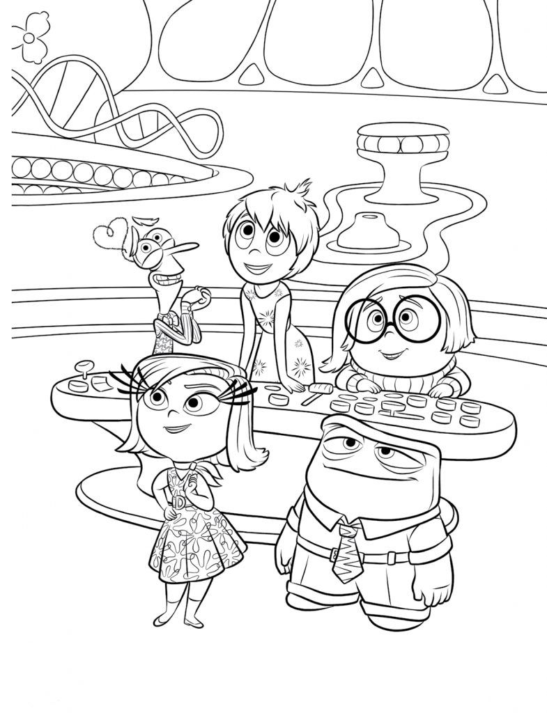 785x1024 Inside Out Coloring Pages Colorear