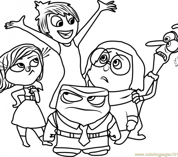 678x600 Inside Out Pictures To Color Inside Out Team Coloring Page Free