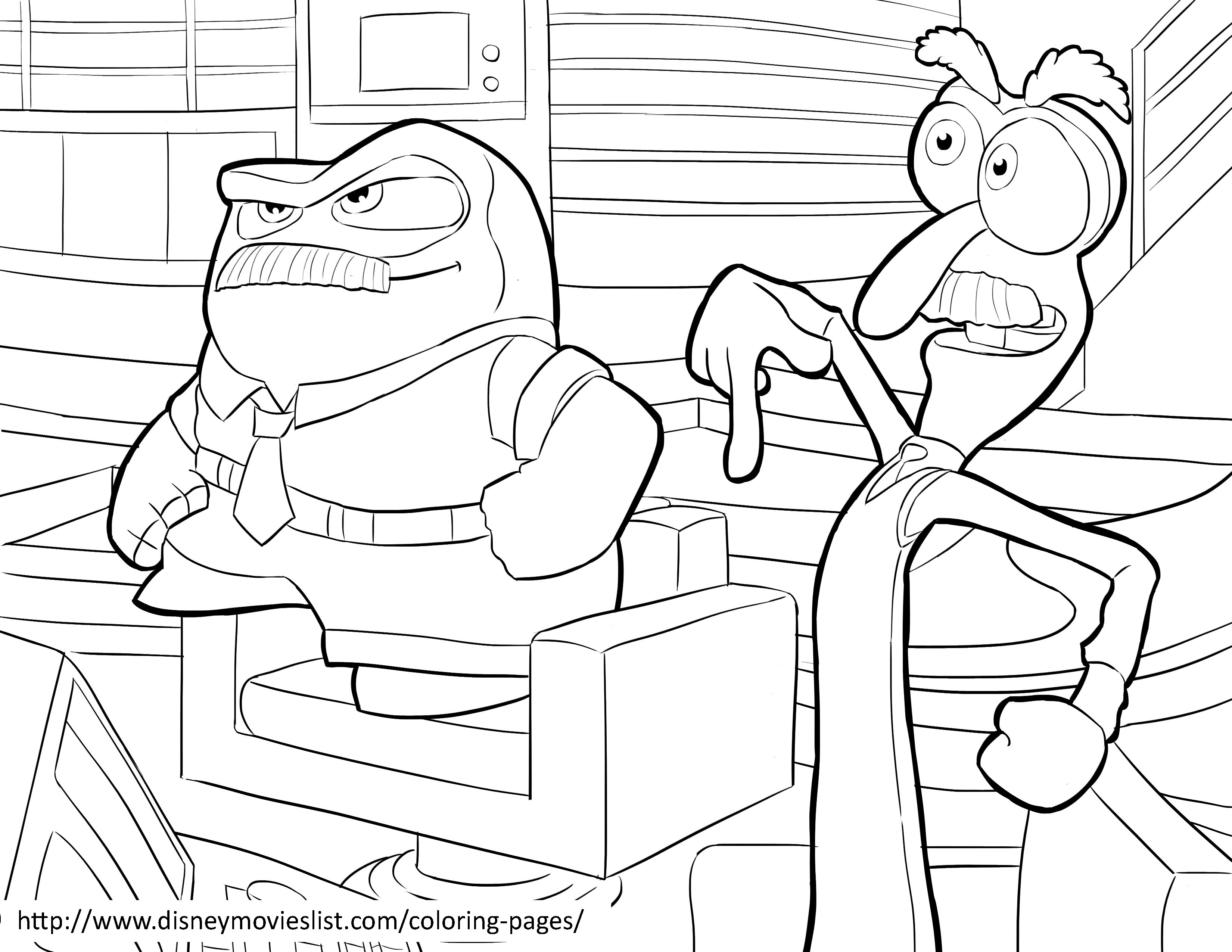3300x2550 Disgust Coloring Page Riley Inside Out Org Best Pages