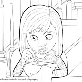 268x268 Inside Out Disgust Coloring Page Disney Inside Out Coloring Page