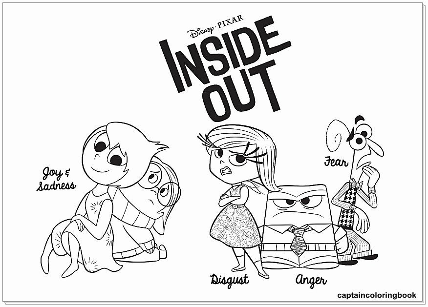 Inside Out Coloring Pages Fear