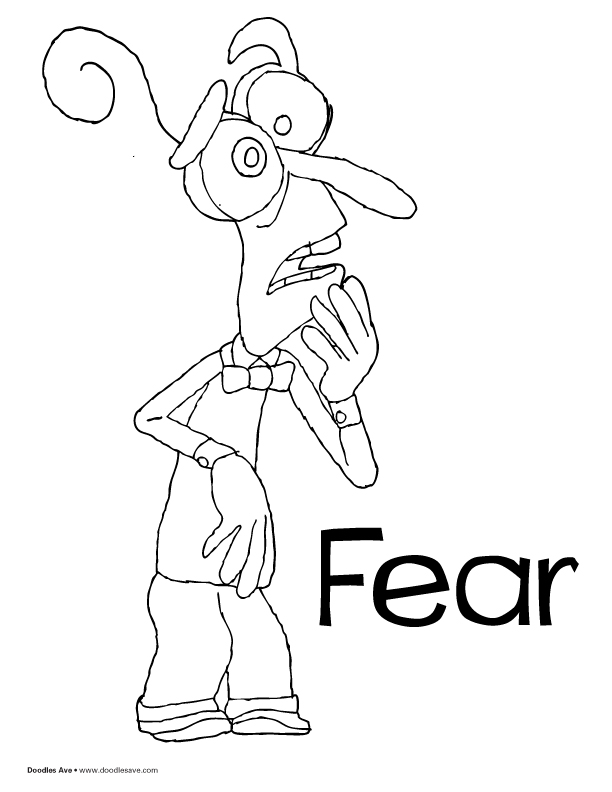612x792 Fear From Inside Out Coloring Pages