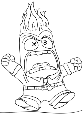 333x480 Inside Out Anger Coloring Page From Inside Out Category Select
