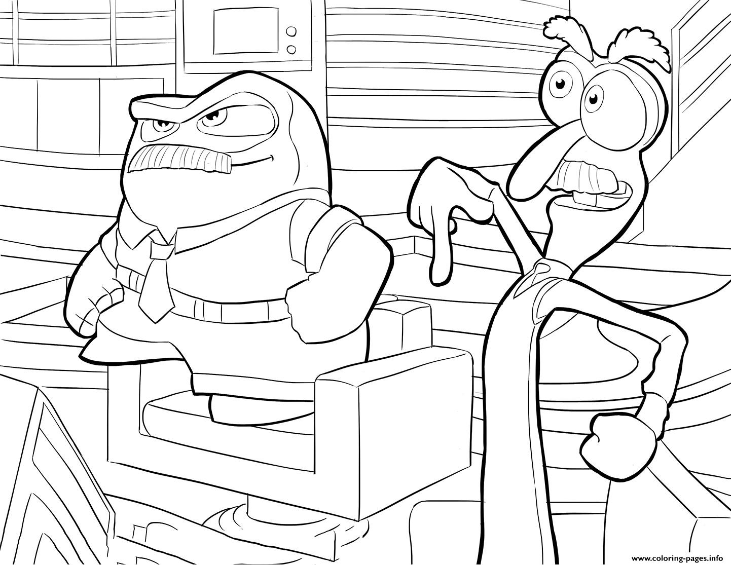 1442x1115 Anger And Fear Inside Out Coloring Pages Printable