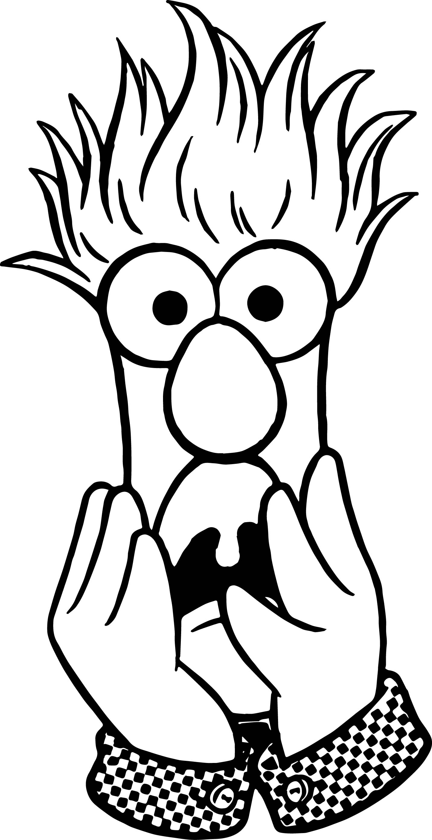 1431x2780 The Muppets Muppets Beaker Fear Coloring Pages Wecoloringpage