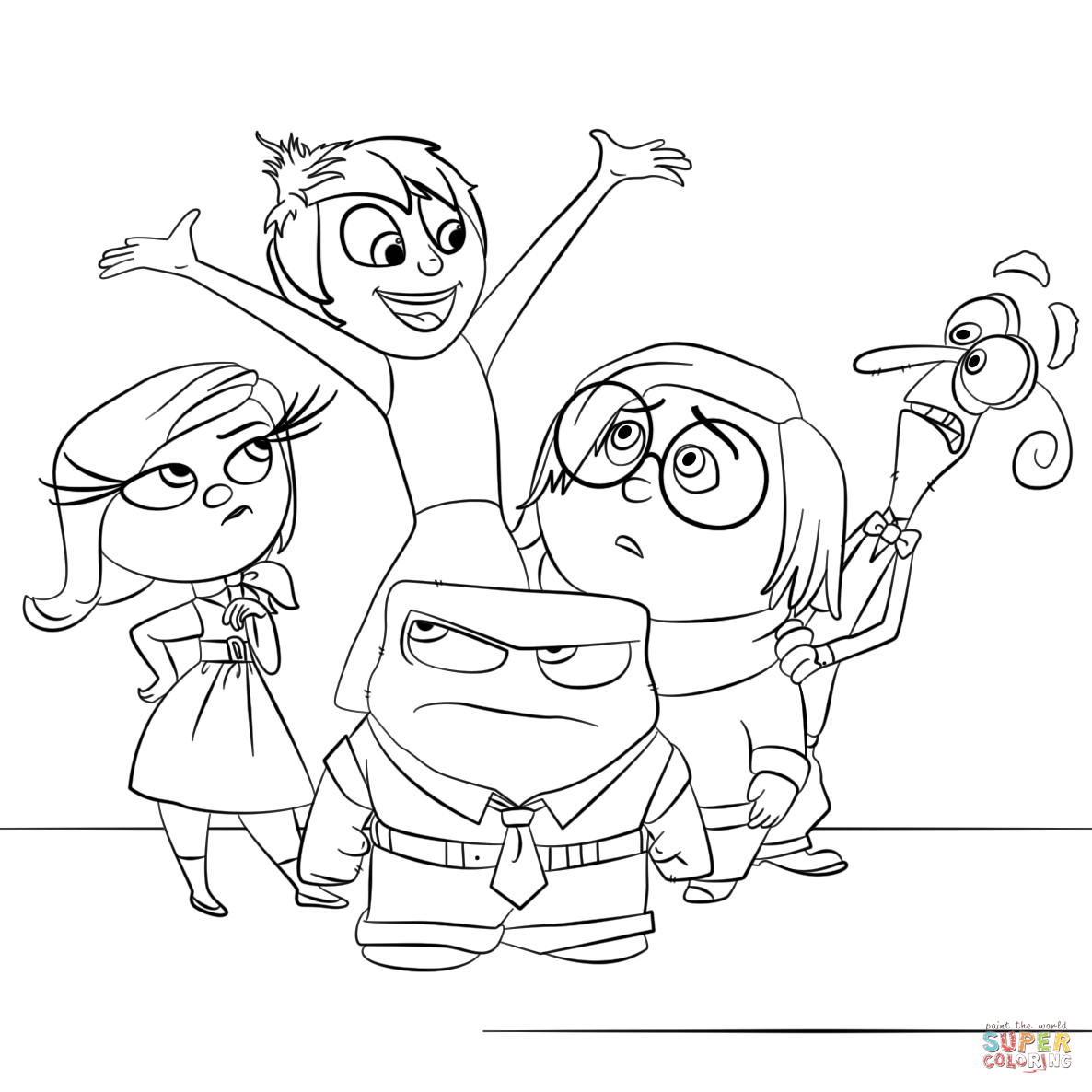 1186x1186 Inside Out All Characters Super Coloring Mental Illness