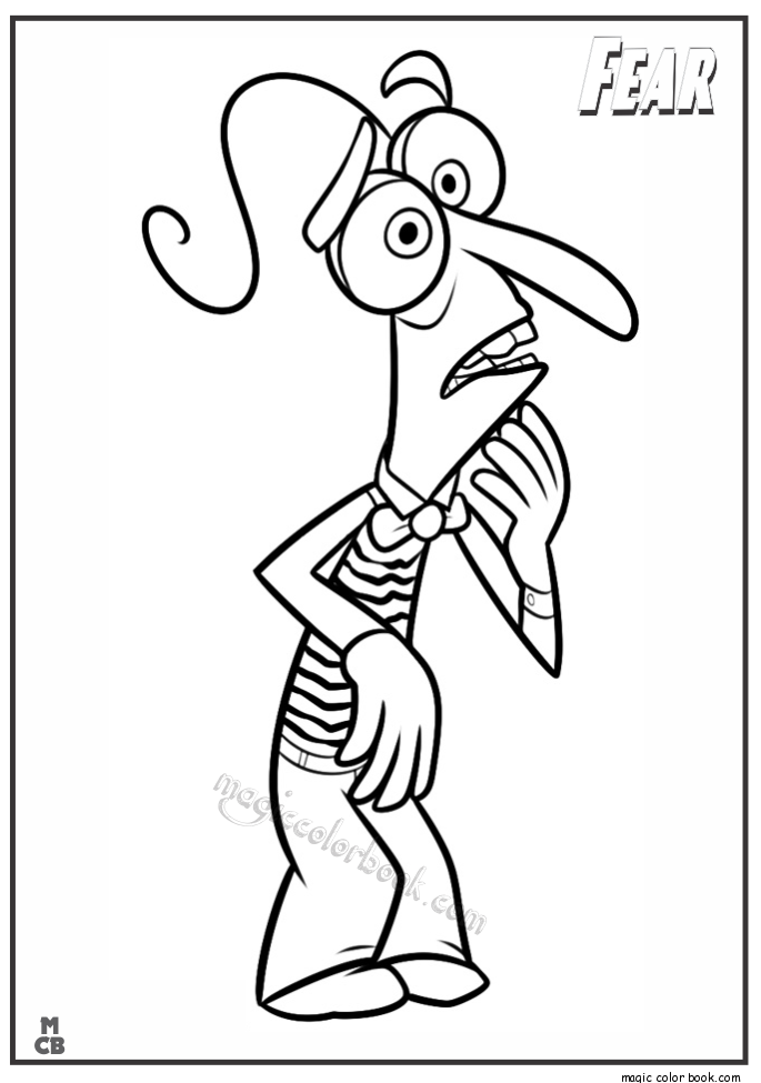 685x975 Inside Out Coloring Pages Free Printable Fear
