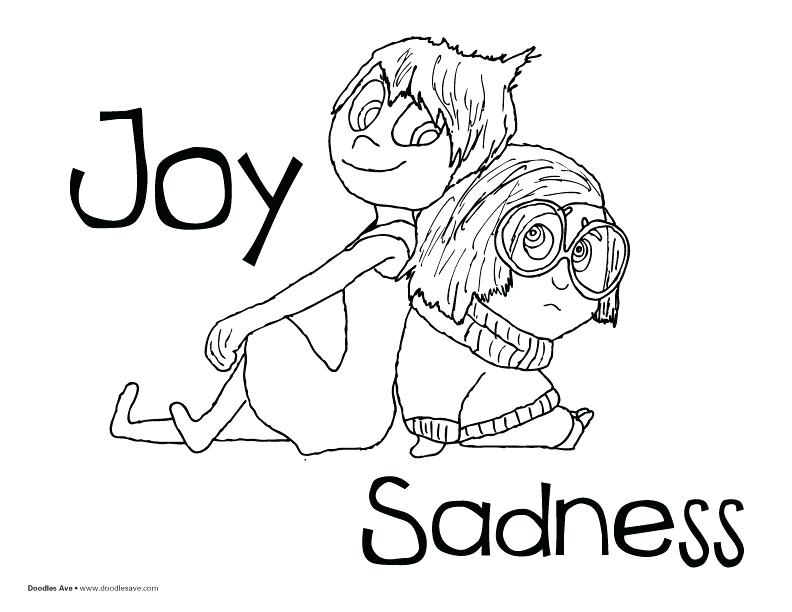 792x612 Joy Coloring Pages Inside Out Coloring Sheets Joy And Sadness