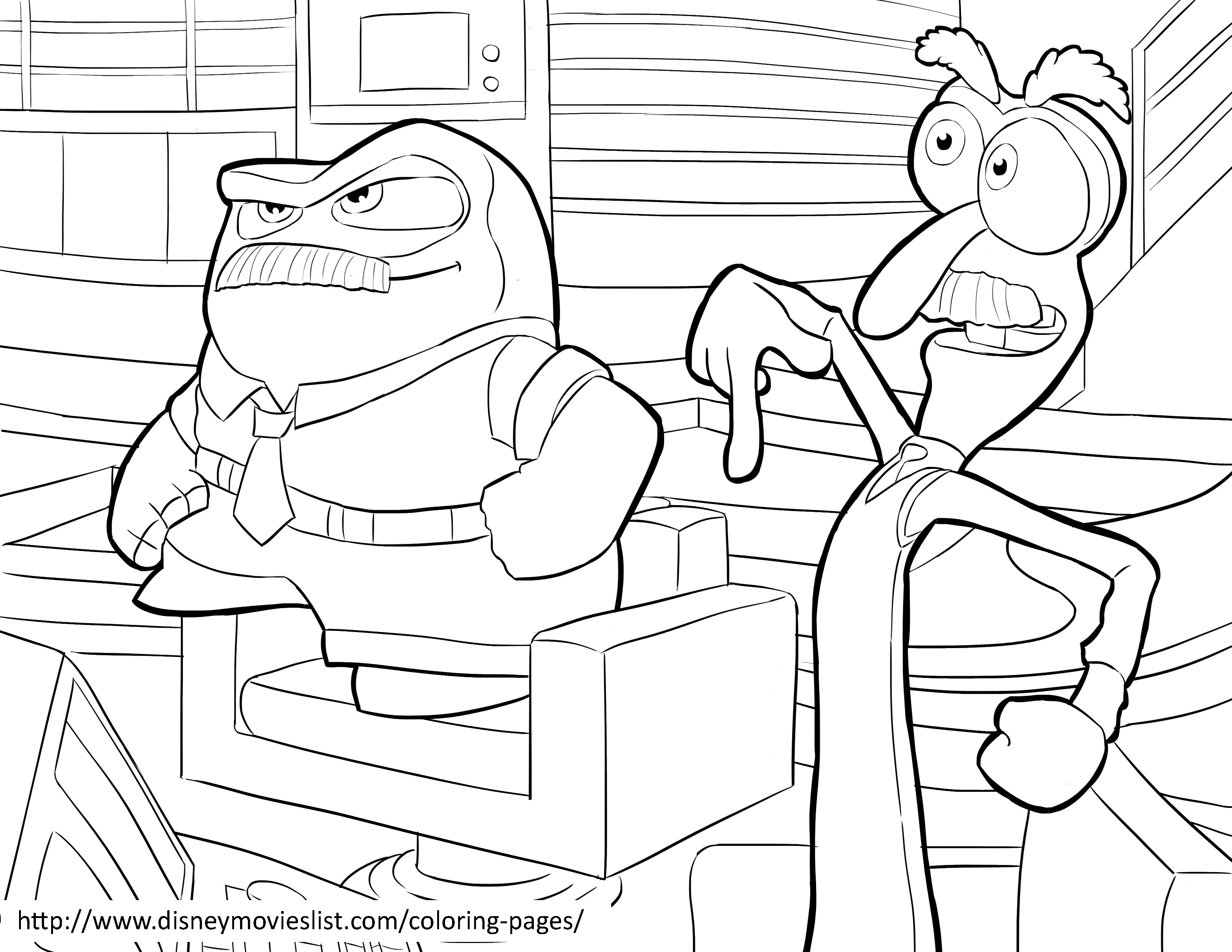 3300x2550 Disgust Coloring Page Riley Inside Out