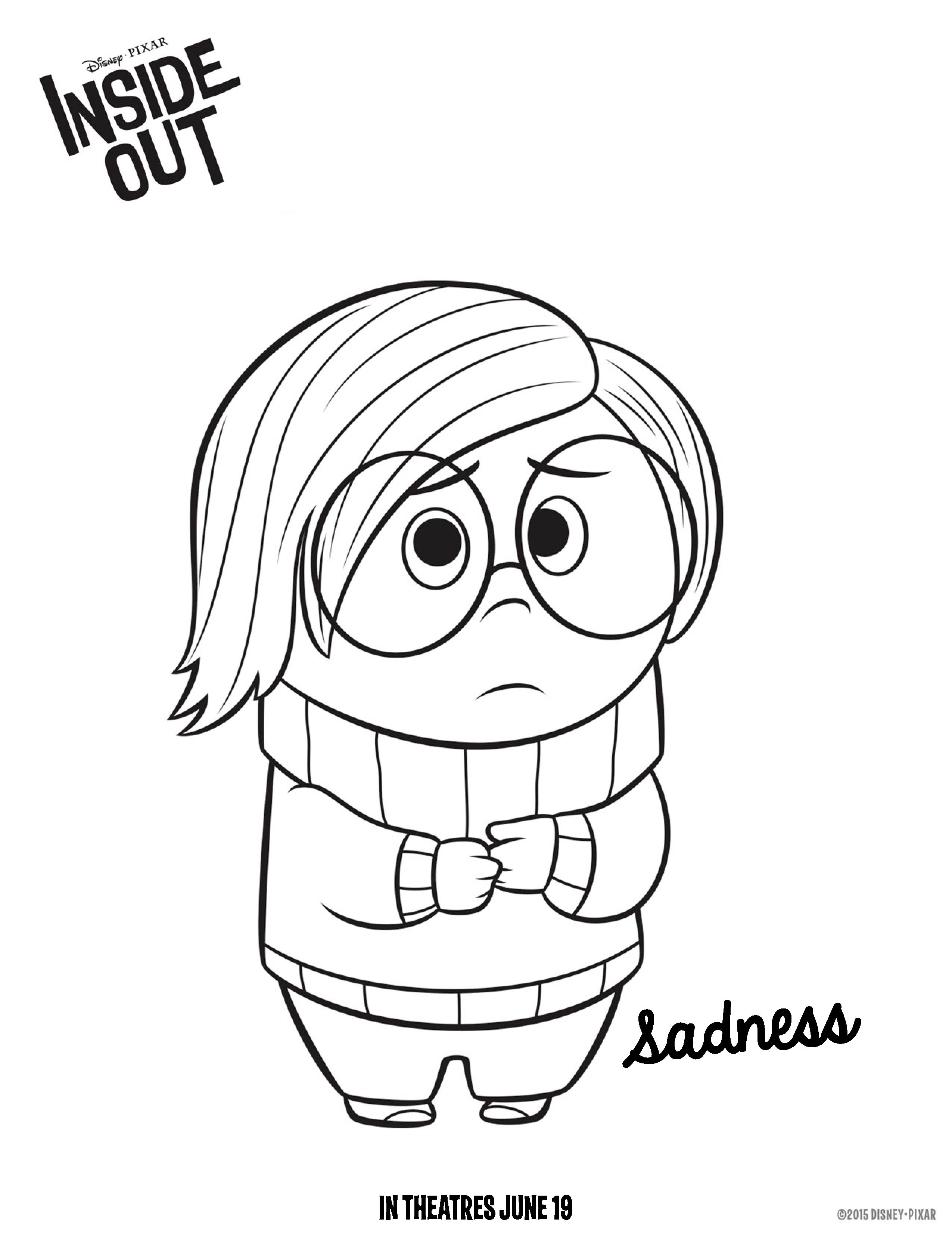2550x3300 Inside Out Coloring Pages Best For Kids Fancy Disgust Page