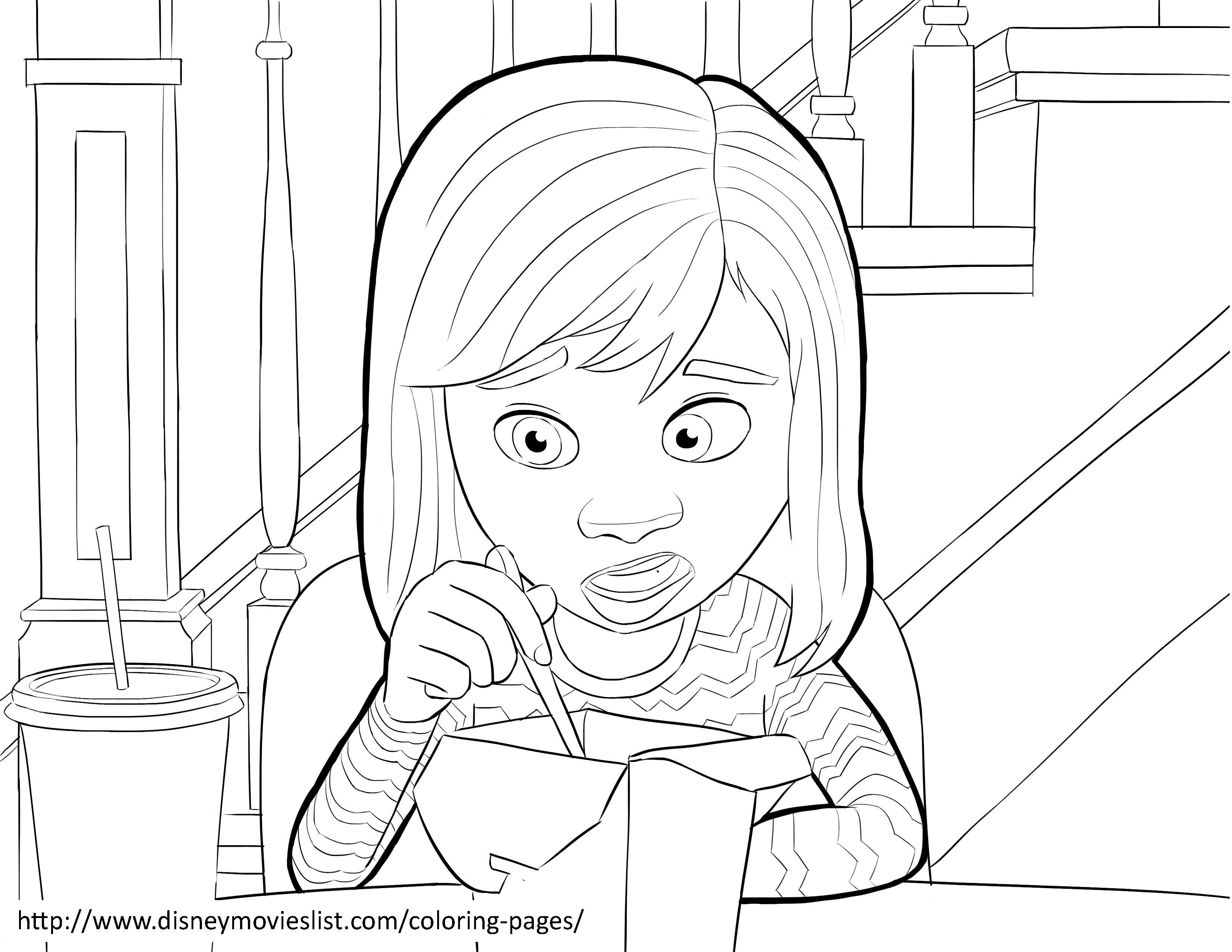 3300x2550 Inside Out Coloring Pages Riley