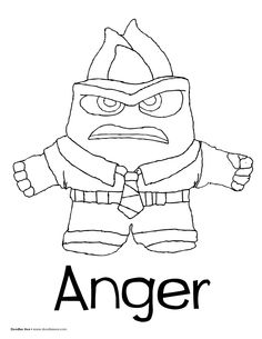 236x305 Free Printable Disney Pixar Inside Out Disgust Anger Fear Coloring