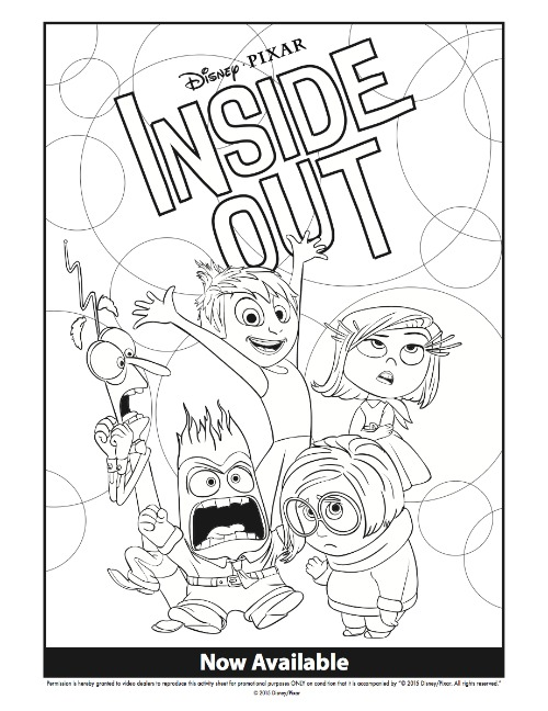 500x648 Disney Inside Out Coloring Pages Activity Sheets For Family