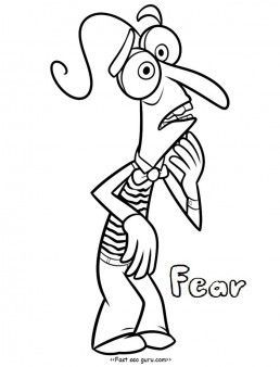 258x338 Printable Inside Out Fear Coloring Pages For Kids Inside Out Fear