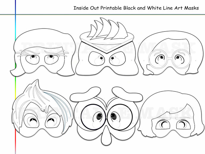 690x518 Coloring Pages Inside Out Printable Black