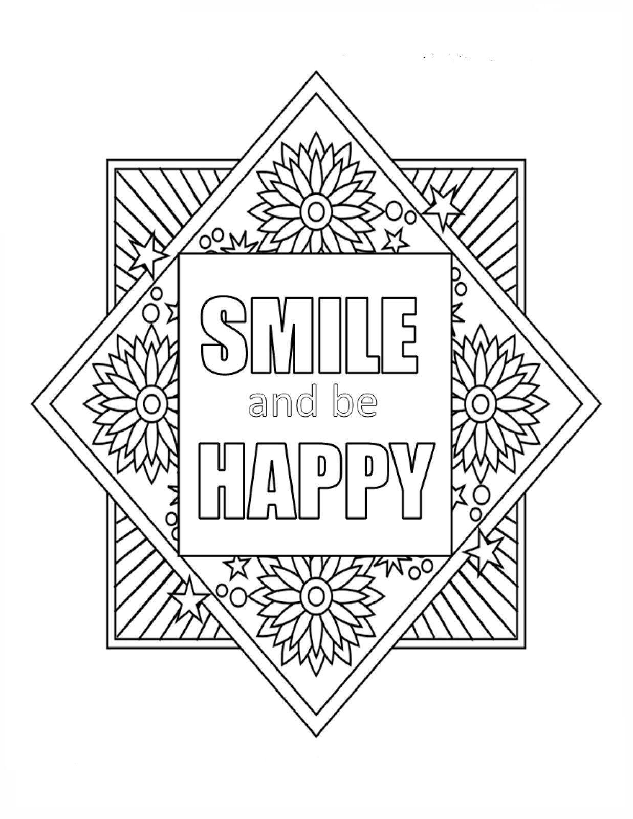 1237x1600 Free Inspirational Quote Coloring Page