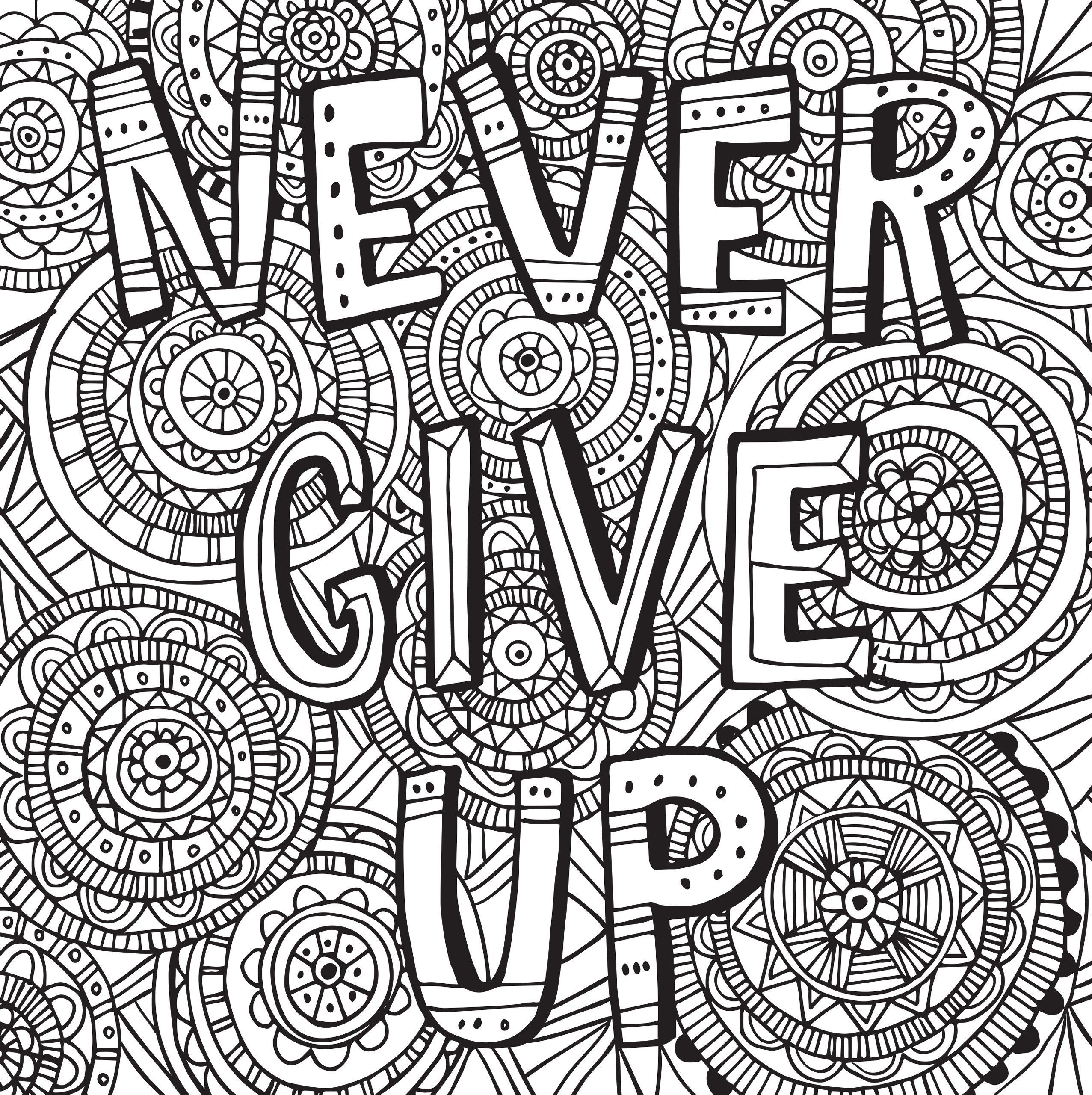 2553x2560 Inspirational Coloring Pages For Adults