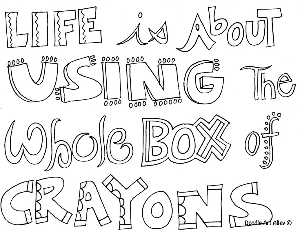 1035x800 Inspirational Quote Coloring Pages
