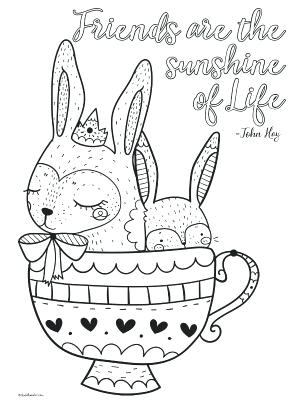 300x400 Cute Printable Inspirational Quotes Coloring Pages For Free