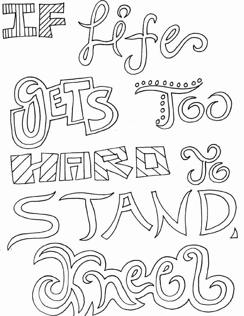 800x1035 Inspirational Quotes Coloring Pages For Adults Http Procoloring