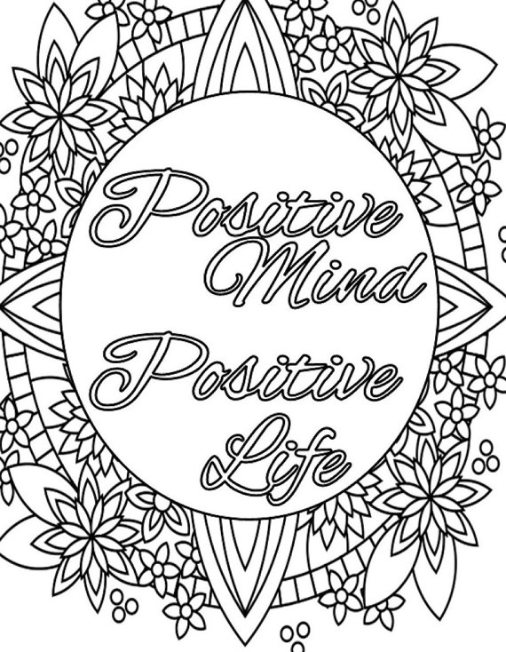 570x734 Amazing Inspiration Ideas Positive Coloring Pages Fun Quote