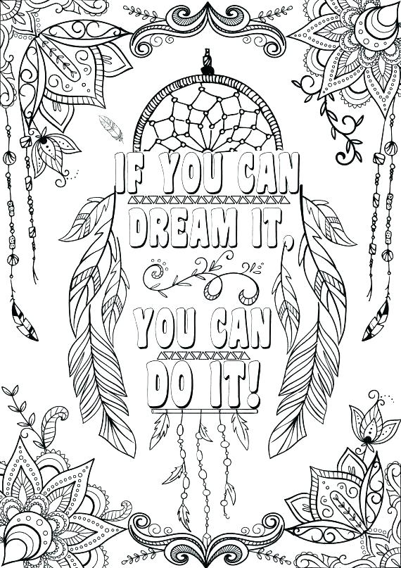 Inspiring Quotes Coloring Pages At GetDrawings Free Download