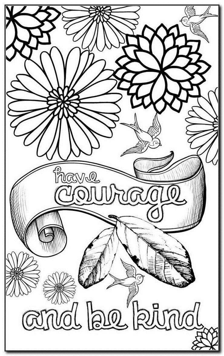 Inspiring Quotes Coloring Pages at GetDrawings | Free download
