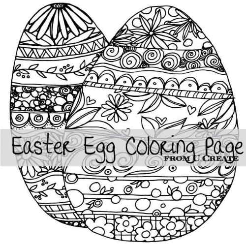 500x500 Easter Egg Coloring Page