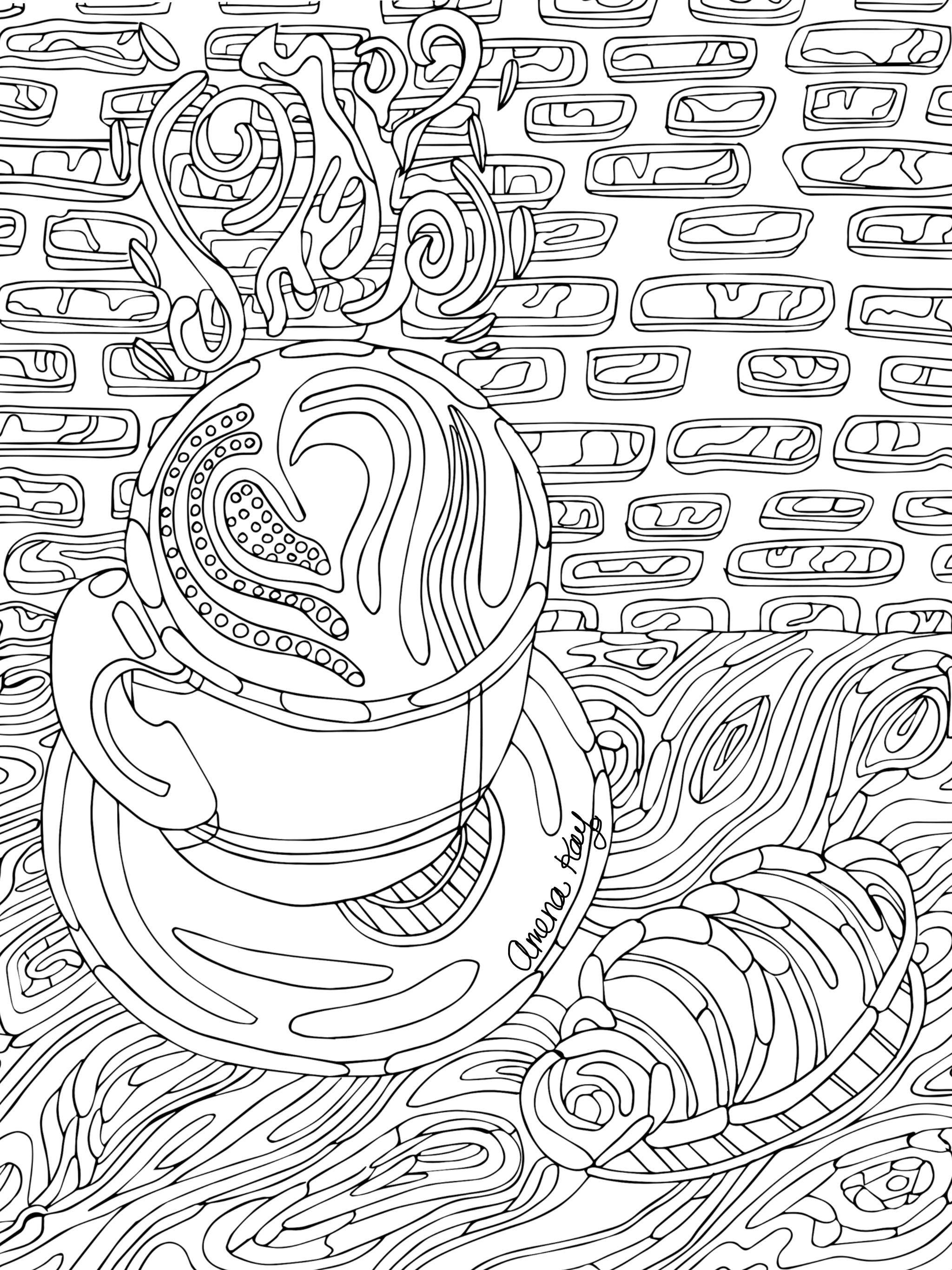 2048x2732 Free Hot Chocolate Coloring Page