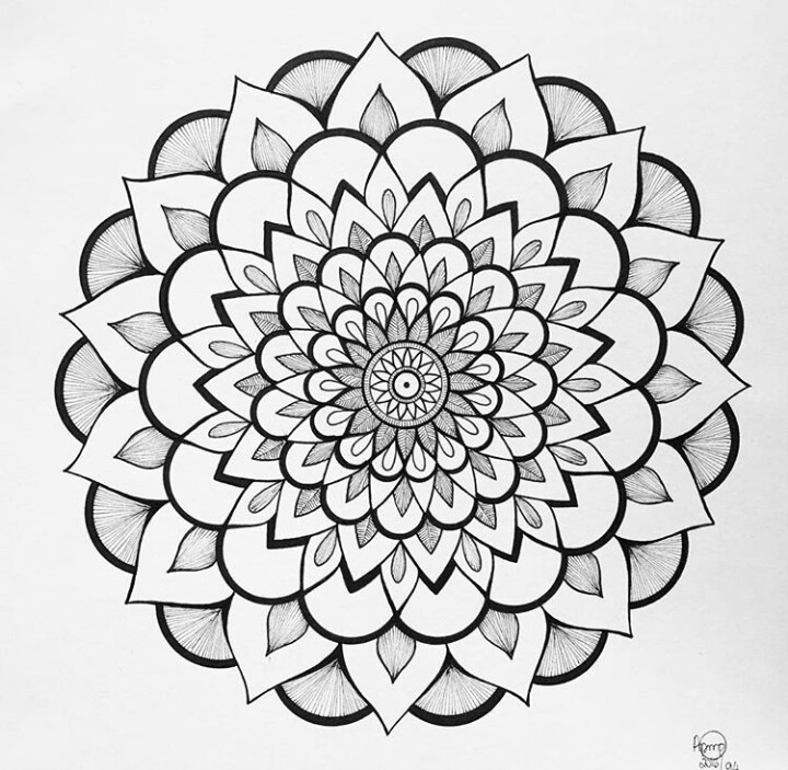720x703 Instagram Amandalas Pmp Coloring Pages Mandala