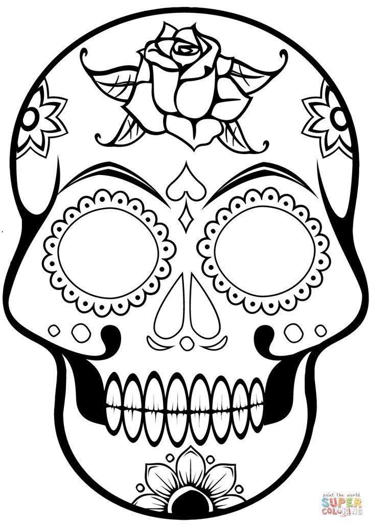 724x1024 Ravishing Skull Printable Coloring Pages Scott Fay