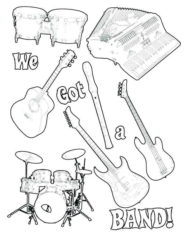 618x800 Instrument Coloring Pages Music Coloring Pages Musical Instrument