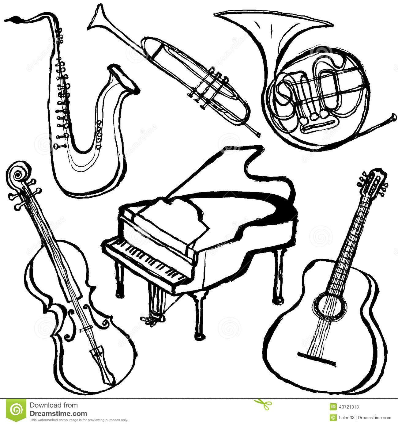 1300x1390 Best Musical Instrument Coloring Pages Lifeafterdeportation Org