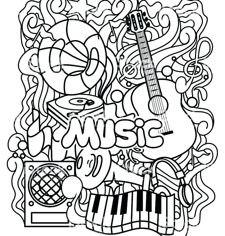 856x900 Musical Instruments Coloring Pages Free Music Coloring Pages