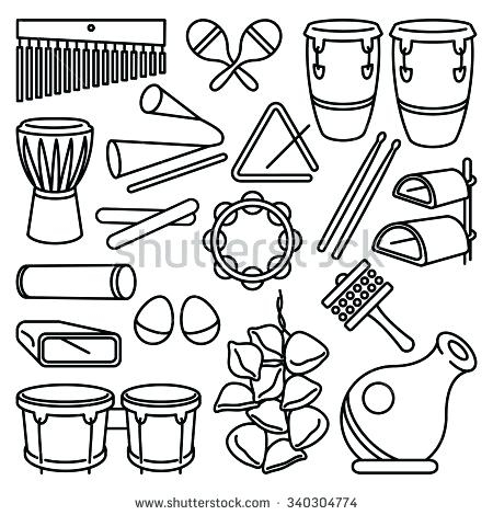 450x470 Percussion Instruments Coloring Pages Instrument Coloring Pages