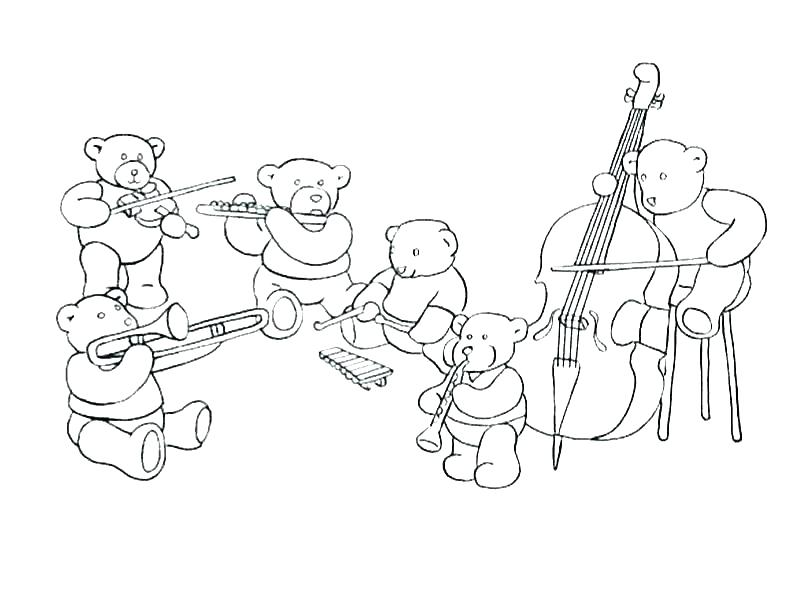 800x600 Instruments Coloring Pages