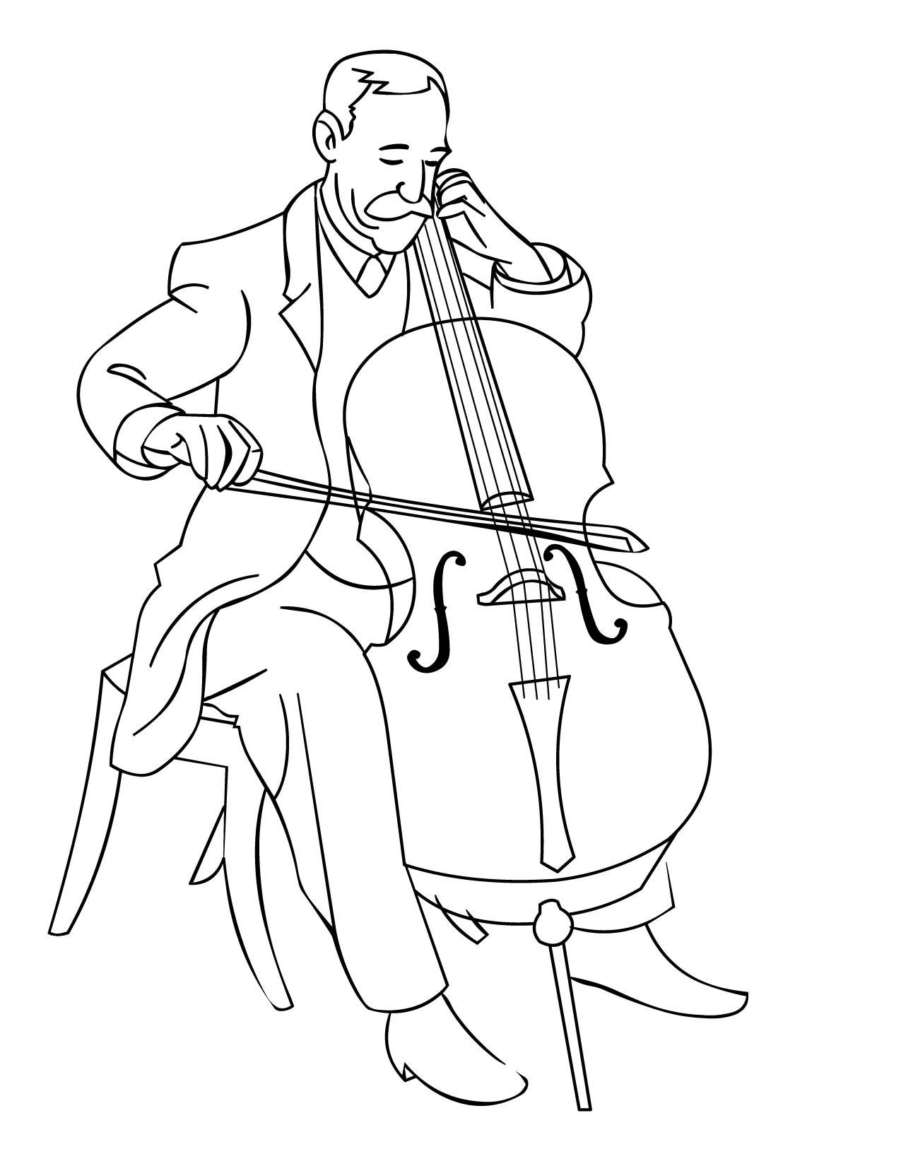 1275x1650 Coloring Pages Instruments